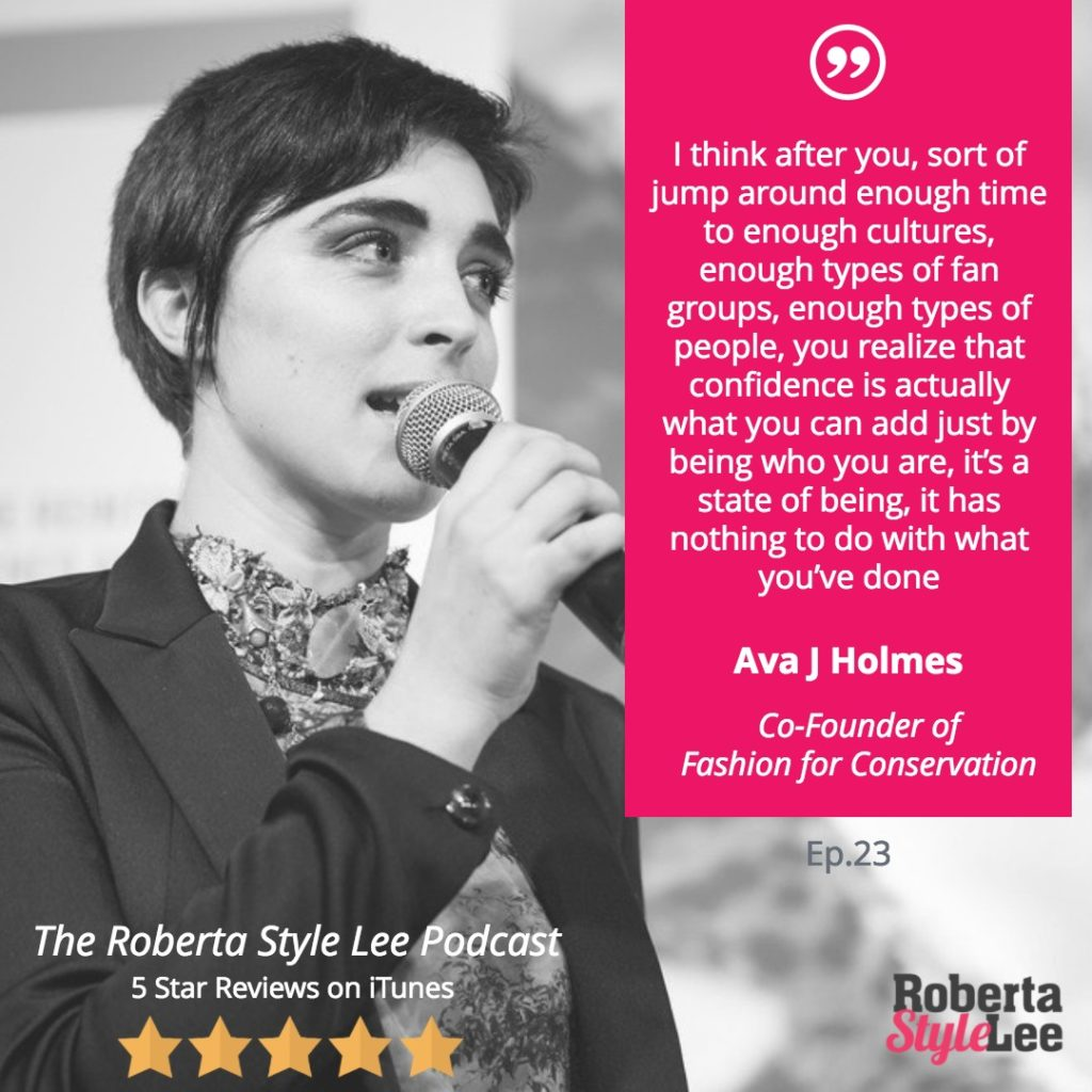 Roberta Style Lee Podcast -Inspirational Women series Ava J Holmes Quote