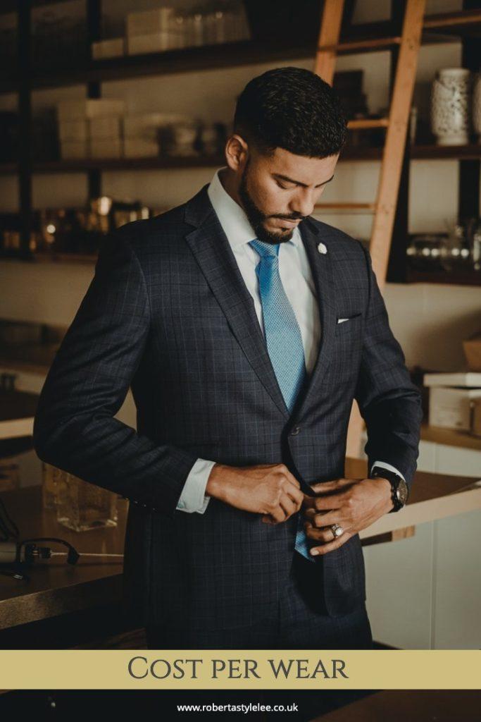 Man in Suit | Cost Per Wear Blog | Roberta Style Lee | London fashion Stylist