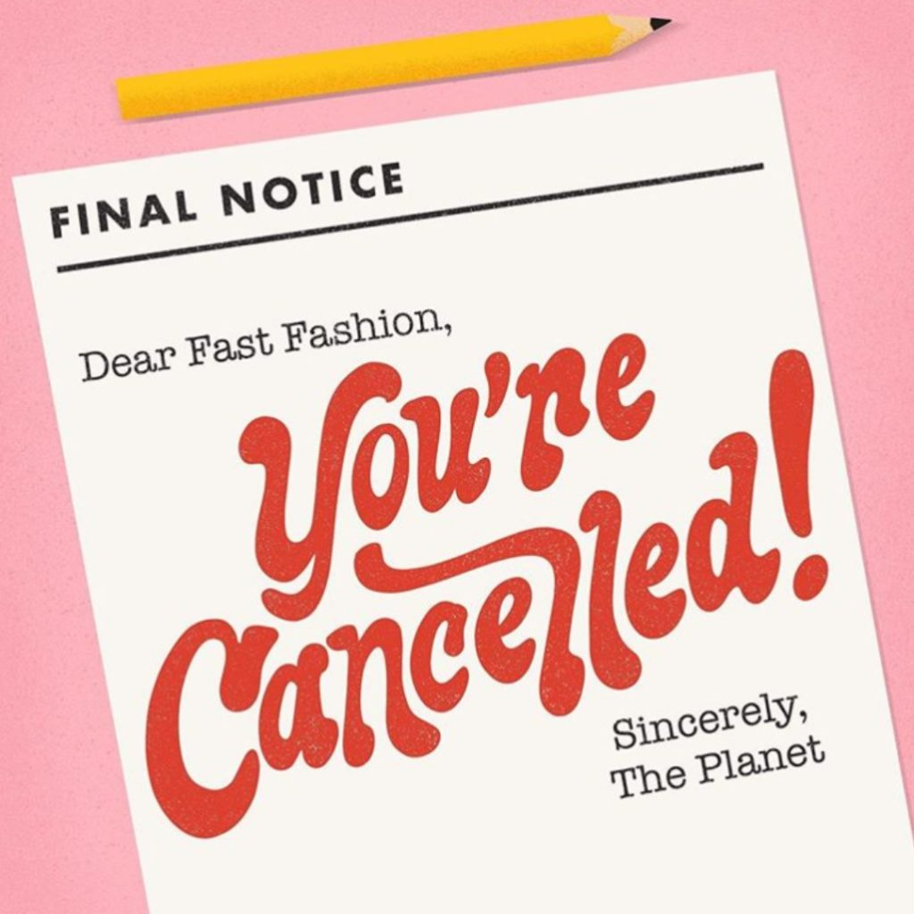 Roberta Style Lee | Fast Fashion Is Cancelled Note