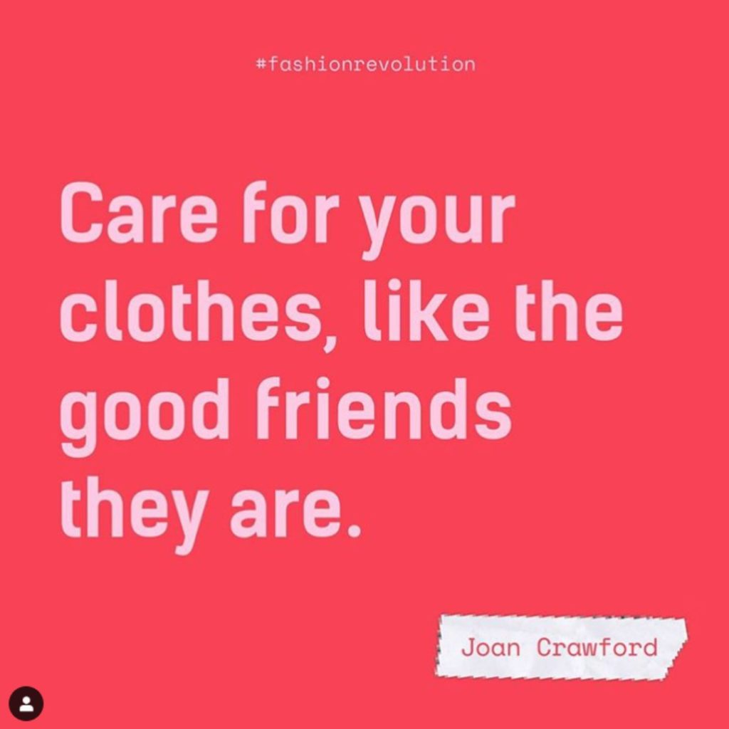 Roberta Style Lee | Care for Your Clothes Quote | Joan Crawford