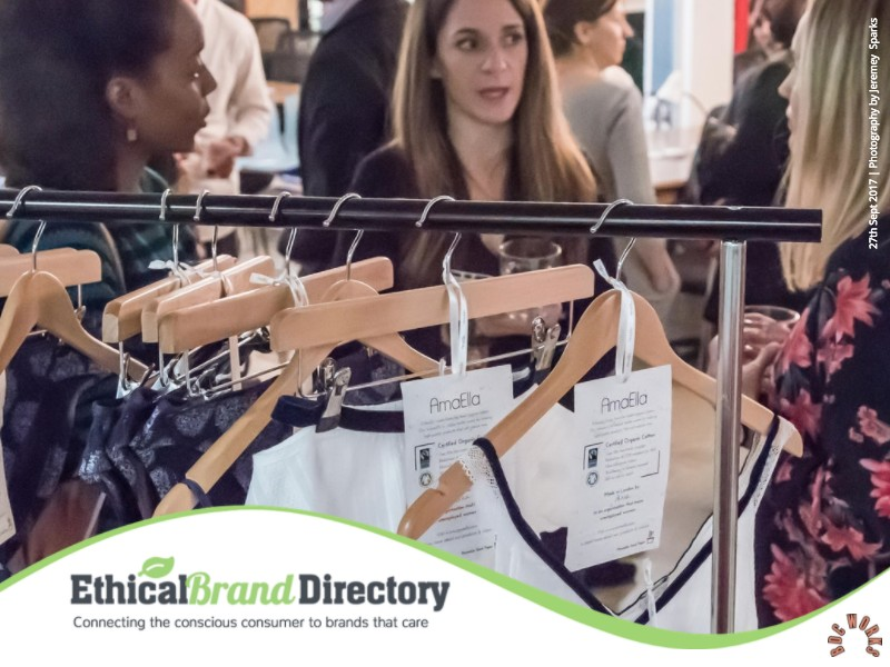 Featured Brand at the Ethical Brand Directory Event : AmaElla Ethical Lingerie | Venue BDC Works Business Design Centre | Photographer: Jeremy Sparks