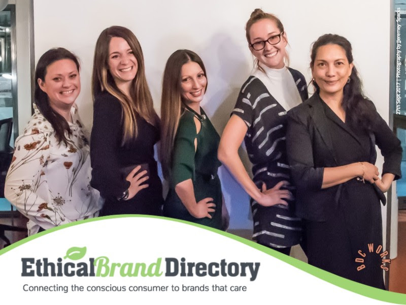 Ethical Brand Directory _ Guest Speakers: Vicky Smith (earth changers),Julie Kervadec (AmaElla), Roberta Lee (Founder of Ethical Brand Directory), Charlie Ross (founder of Offset Warehouse) and Bel Jacobs (fashion Journalist).