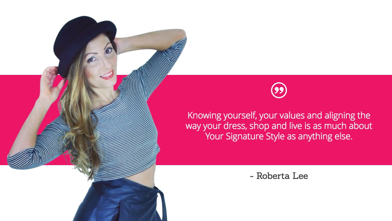 Your Signature Style, Roberta Style Lee - Quote