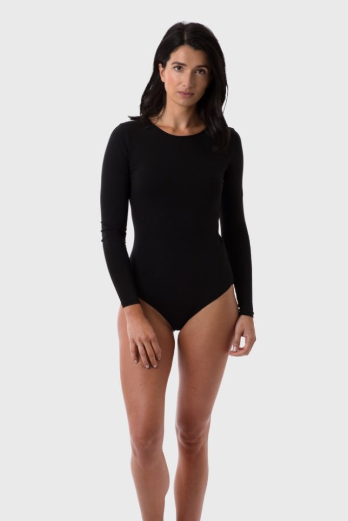 Black 100% GOTS Organic Cotton Bodysuit for Women £36