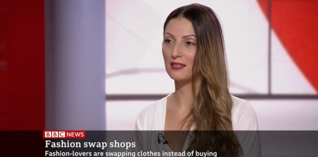 Live on BBC News Discussing Clothes Swaps & Sustainable Fashion