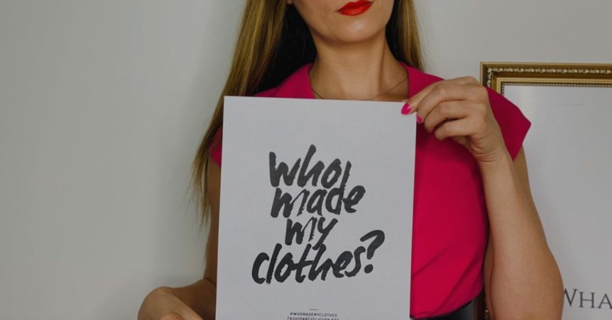 Roberta Style Lee _ Who Made my clothes | Fashion Revolution Sign