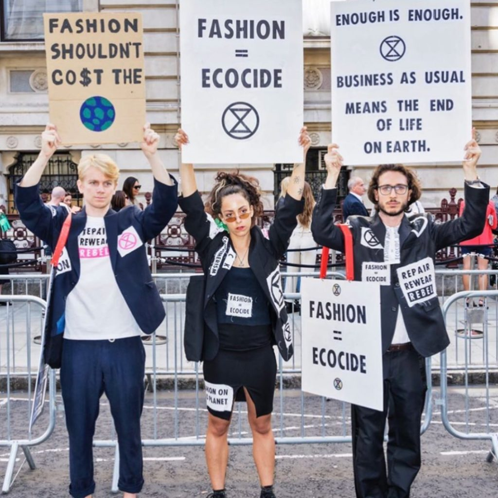 Roberta Style Lee Blog | Extinction Rebellion Protestors | Fashion and Ecocide