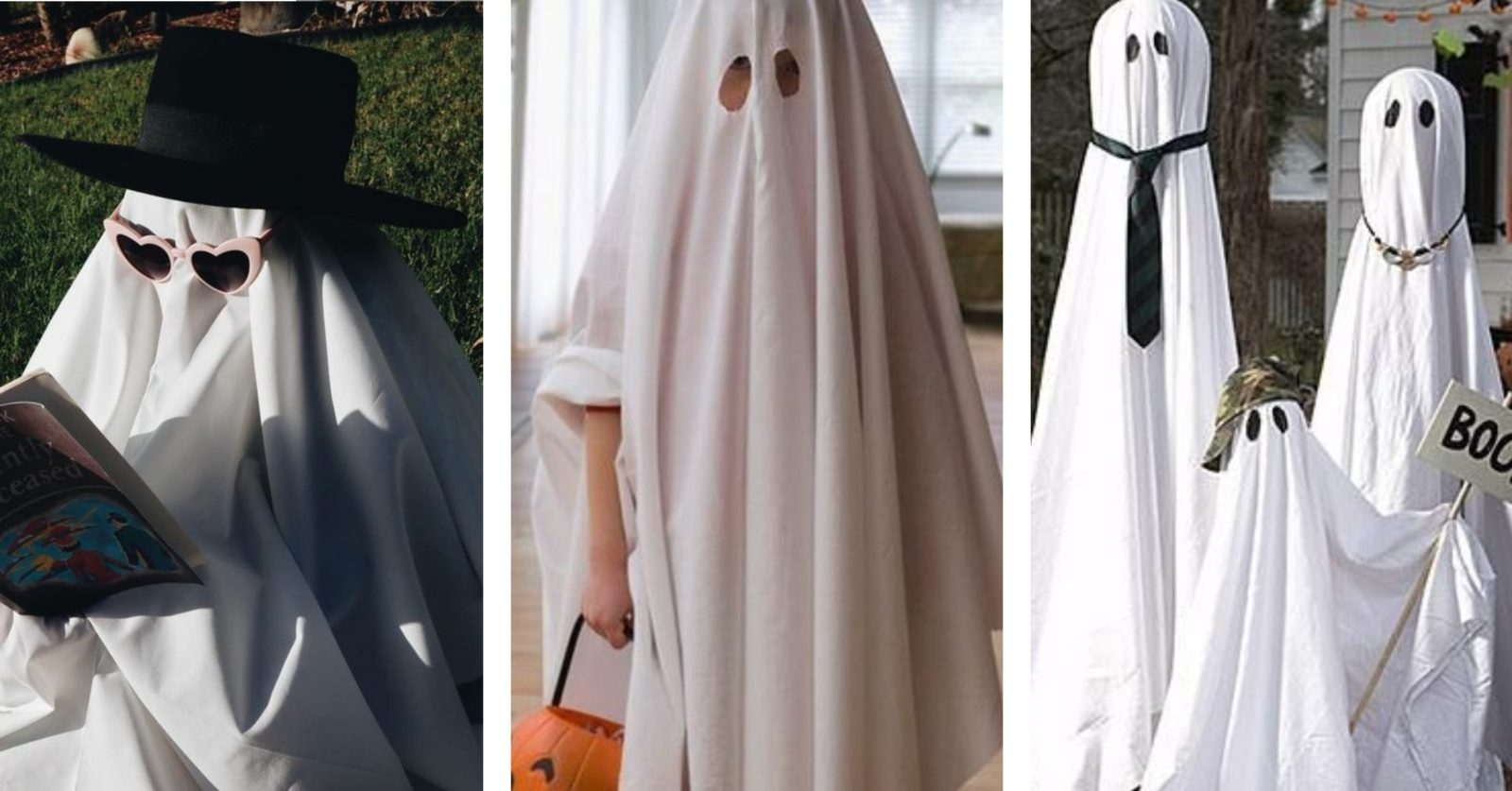 sustainable Halloween costumes- ghost image