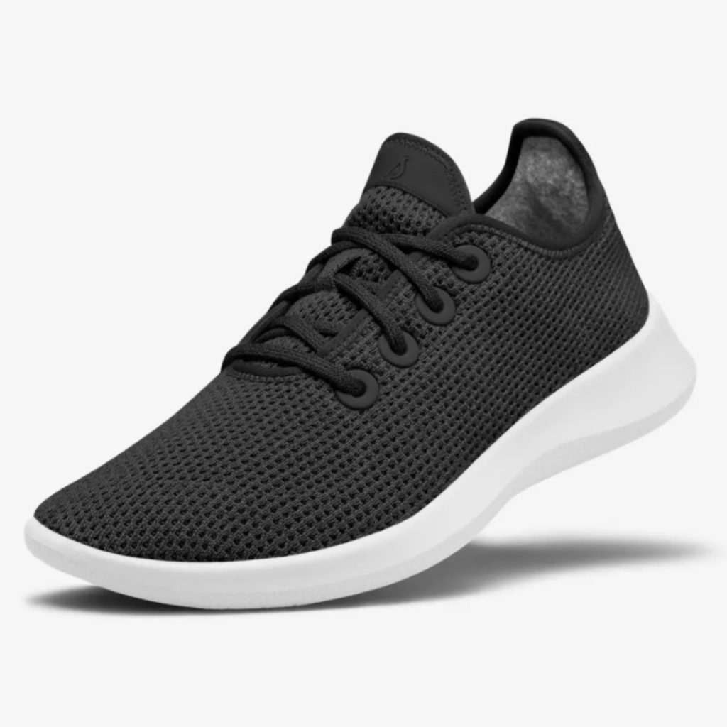 Black and white everyday trainers | All Birds Brand | Monochrome sneakers | Sustainable, ethical runners | Tencel footwear