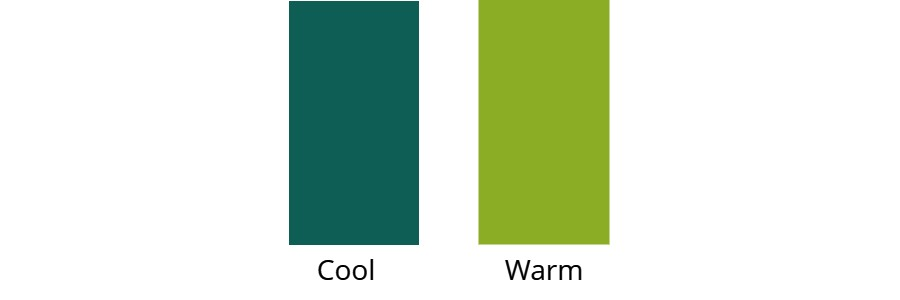 Cool green versus warm green | Difference between cool and warm colours | How to tell if a colour is cool