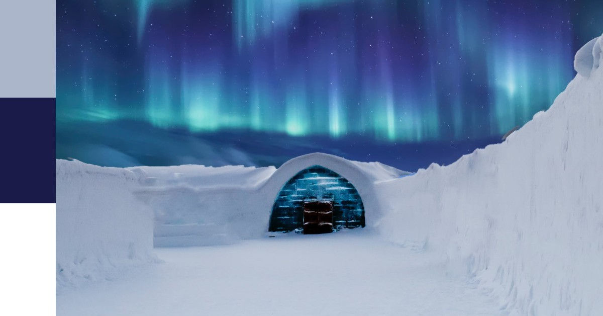 Cool Colour Winter Landscape with Igloo | Cool Colour Definition | What is a Cool Colour?